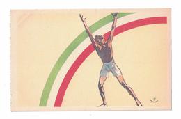 CARTOLINA PUBBLICITARIA  LITTORIALI DELLO SPORT 1936  Illustratore SACCHETTI - Pubblicitari