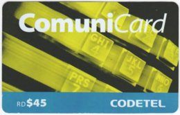 DOMINICAN REP. A-034 Prepaid Codetel - Used - Dominicana