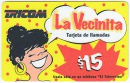 DOMINICAN REP. A-036 Prepaid Tricom - Cartoon - Used - Dominicana
