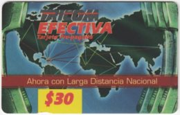 DOMINICAN REP. A-037 Prepaid Tricom - Map, World - Used - Dominicana
