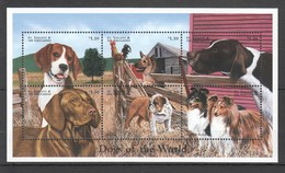 D357 ST.VINCENT FAUNA PETS DOGS OF THE WORLD 1KB MNH - Chiens
