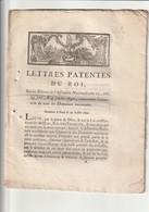 Lettres Patentes Du Roi Portant Concernant L'aliénation Des Domaines Nationaux. - Decrees & Laws