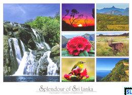 Sri Lanka Postcards, Horton Plains National Park, Central Highlands, UNESCO, Waterfall, Deer, Postcrossing - Sri Lanka (Ceylon)