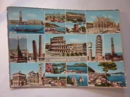 """Cartolina Viaggiata """"SOUVENIR D' ITALIE"""" 1962 - Greetings From..."""
