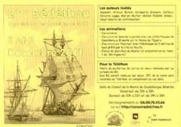 PELLERIN : 3 Feuillets Salon BEDETHON 2001 - Livres, BD, Revues