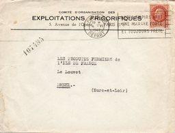 Enveloppe - Flamme NOTRE EMPIRE VEUT UNE MARINE FORTE ET TOUJOURS PRETE - PARIS R.P. 1942 - Annullamenti Meccanici (pubblicitari)