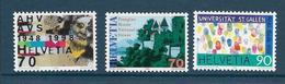 Timbres Neufs** De Suisse, N°1574-76, Anniversaires: Prangins, Musée National, Université De St Gall, Empreintes Digital - Neufs