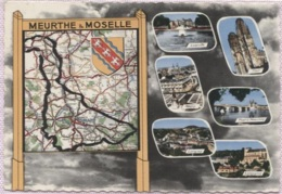 CPSM - Carte GEO.- LA MEURTHE Et MOSELLE - Edition La Cigogne - Maps