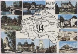 CPSM - Carte GEO.- LE VAL De MARNE - Edition R.Morel - Maps