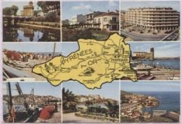 CPM - Carte GEO.- PYRENEES ORIENTALES - Edition APA Poux - Maps