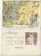 CPSM - Carte GEO.- L'ALSACE - TROIS EPIS - Illustration J.SCHIRA - Edition Actualités D'alsace - Maps