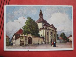 Ljubljana / Laibach - Künstlerkarte Deutsche Ritterordens-Kirche Und Anastasius Grün-Denkmal - Slovénie