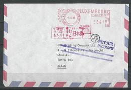 Lettre De Luxembourg Vers Le Japon. ( Retour Inconnu) - Marcophilie - EMA (Empreintes Machines)