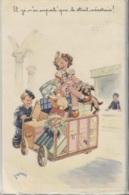 CPA - ILLUSTRATION JANSER - Scène ENFANTINE - Edition Superluxe - Janser