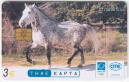 GREECE C-389 Chip OTE - Animal, Horse - Used - Griechenland