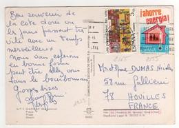 Timbre , Stamp Yvert N° 2165 , 2155 Sur CP , Carte , Postcard De 1979 ??  Pour La France - 1931-Aujourd'hui: II. République - ....Juan Carlos I