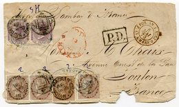 RC 11278 INDE ANGLAISE INDIA MADRAS FRONT COVER TO TOULON FRANCE - 1858-79 Crown Colony