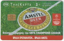GREECE E-449 Chip OTE - Advertising, Drink, Beer, Amstel / Sport, Soccer - Used - Griechenland