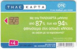 GREECE E-452 Chip OTE - Used - Griechenland