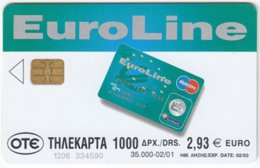 GREECE E-455 Chip OTE - Advertising, Money Institute - Used - Griechenland