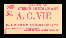 """FRANCE CARNET N° 1263-C2 Série 04-63B Decaris (II) Carnet De 8 Timbres. """"A"""" à Droite Du """"8"""". Neuf **. Cote Yvt 80 €. TTB - Carnets"""