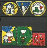 Giappone 2002, Giornata Della Corrispondenza (o), 6 Valori - 1989-... Imperatore Akihito (Periodo Heisei)