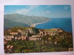 """Cartolina Viaggiata """"TAORMINA  Teatro Greco E Capo S. Alessio"""" 1975 - Other Cities"""