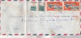 HAITI - Lettre Recommandée Avion N° 3193 Port Au Prince  Pour  Paris - Haiti
