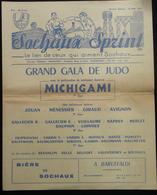 PROGRAMME GRAND GALA DE JUDO SOCHAUX SPRINT MAITRE MICHIGAMI 1955 - Sports De Combat