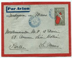 RC 11279 MADAGASCAR 1937 ENTIER POSTAL LETTRE POUR LE MANS FRANCE - Madagascar (1889-1960)