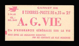 """FRANCE CARNET N° 1263-C2 Série 04-63A Decaris (II) Carnet De 8 Timbres. """"A"""" à Gauche Du """"8"""". Neuf **. Cote Yvt 80 €. TTB - Booklets"""
