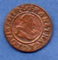 Louis XIII / Double Tournois / 1633 D / B+ - 1610-1643 Louis XIII Le Juste