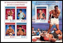 Mozambique 2014, Boxing Muhammad Ali, Klb + S/s MNH - Boxen