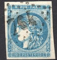 CERES BORDEAUX N° 45C REPORT 3   BLEU   OB GC 764  TB COTE > 80 € - 1870 Bordeaux Printing