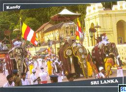Sri Lanka Postcards, Kandy, UNESCO, Elephants, Postcrossing - Sri Lanka (Ceylon)