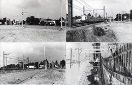 LA GRAVE D' AMBARES - 4 Photos -Train - Pose Des Catenaires - Photos Pierre Gontier (111049) - Frankreich
