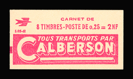 FRANCE CARNET N° 1263-C1 Decaris (II) Série 05-61. Carnet De 8 Timbres. Neuf **. Pub Calberson. Cote Yvert 50 €. TTB - Carnets
