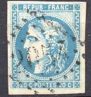 CERES BORDEAUX N° 46Aa BLEU CLAIR   OB GC 2054 LIMOUX  TB COTE > 120 € - 1870 Bordeaux Printing