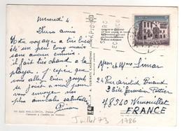 Timbre , Stamp Yvert N° 1786 Sur CP , Carte , Postcard De Juillet 1973 Pour La France - 1931-Aujourd'hui: II. République - ....Juan Carlos I