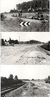 LA GRAVE D' AMBARES - 3 Photos -Train - Pose Des Catenaires - Travaux - Engins - Photos Pierre Gontier (111050) - Frankreich