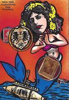 CPM Sirène Sous Marin Mata Hari Mermaid Jihel Tirage Signé 30 Exemplaires Numérotés Signés Germany - Fairy Tales, Popular Stories & Legends