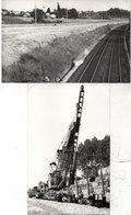 LA GRAVE D' AMBARES - 2 Photos -Pose Des Catenaires - Travaux - Engins - Photos Pierre Gontier (111051) - Frankreich