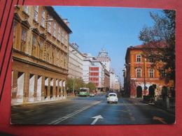 Ljubljana / Laibach - Hochhaus / Strasse Mit VW Käfer / Autobus - Slowenien