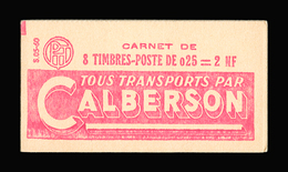 FRANCE CARNET N° 1263-C1 Decaris (II) Série 05-60. Carnet De 8 Timbres. Neuf **. Pub Calberson. Cote Yvert 50 €. TTB - Booklets