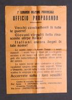 Storia WWII - Volantino Propaganda RSI - Divisioni Etna E Vesuvio - 1944 - Non Classificati