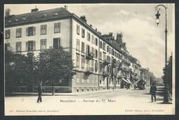 +++ CPA - Suisse - NEUCHATEL - Avenue Du 1er Mars     // - NE Neuchâtel