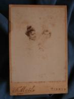 Photo Format Cabinet  Maël à Tarbes  Portrait Nuage  Belle Femme Avec Un Bébé Bouclée (Laurent Et Jeannette 1900) - L414 - Identified Persons