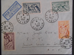 France Lettre De Millau 1950 Pour Saint Louis Joli Document - France