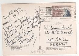 Timbre , Stamp Yvert N° 1837 Sur CP , Carte , Postcard Du 04 ENE 1980 Pour La France - 1931-Aujourd'hui: II. République - ....Juan Carlos I