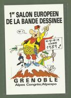 CARTE POSTALE  GRENOBLE ISERE 38 PREMIER SALON DE LA BANDE DESSINEE 1989 ILLUSTRATEUR GREG - Grenoble
